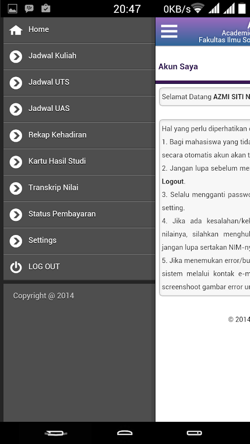 ArMS.net FISIP UniGa- screenshot