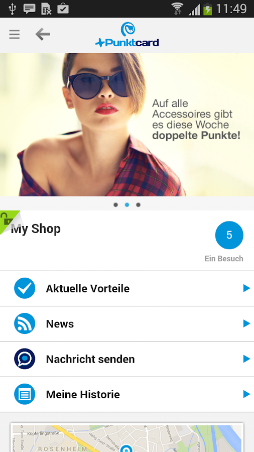 +Punktcard – Screenshot