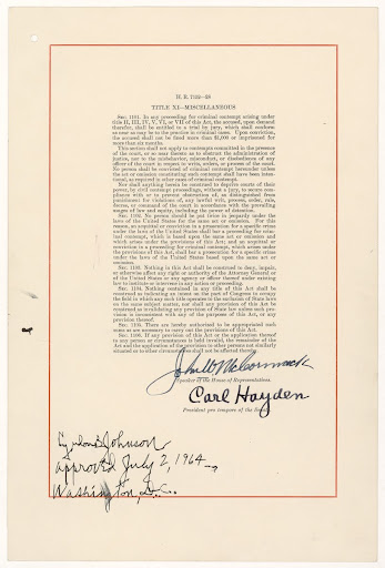 Civil Rights Act of 1964. Page 28.