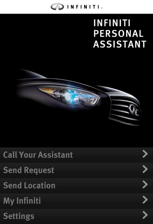 Infiniti Personal Assistant- screenshot