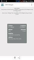 Screenshot of GPS Location Widget