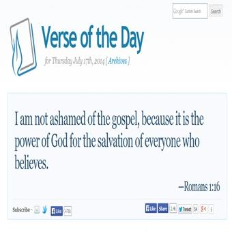 Your Bible Verse Of The Day