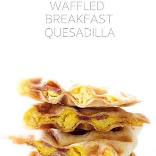 Waffled Breakfast Quesadilla