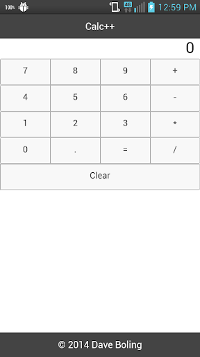 Dave's Simple Calc