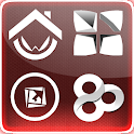 red Fusion Go Launcher Theme logo