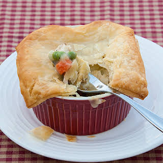 Individual Chicken Pot Pies.