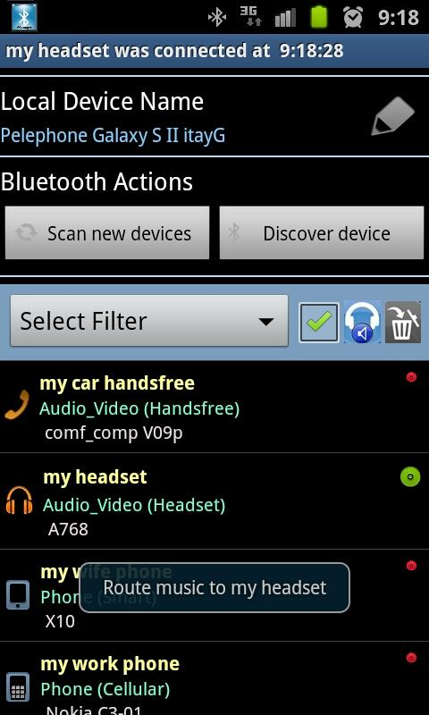 Bluetooth Manager - screenshot