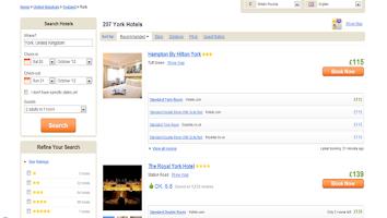 Screenshot of Cheap Hotels - Compare Hotels