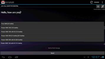 Screenshot of SMSoIP SMS.de Plugin