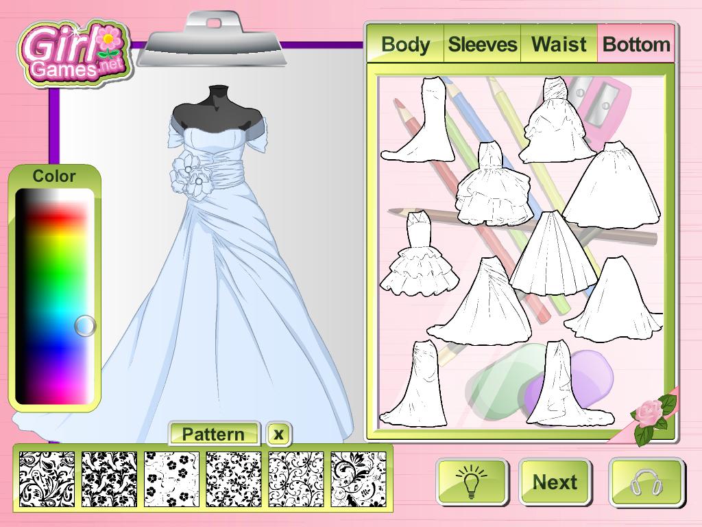 fashion studio wedding dress screenshot