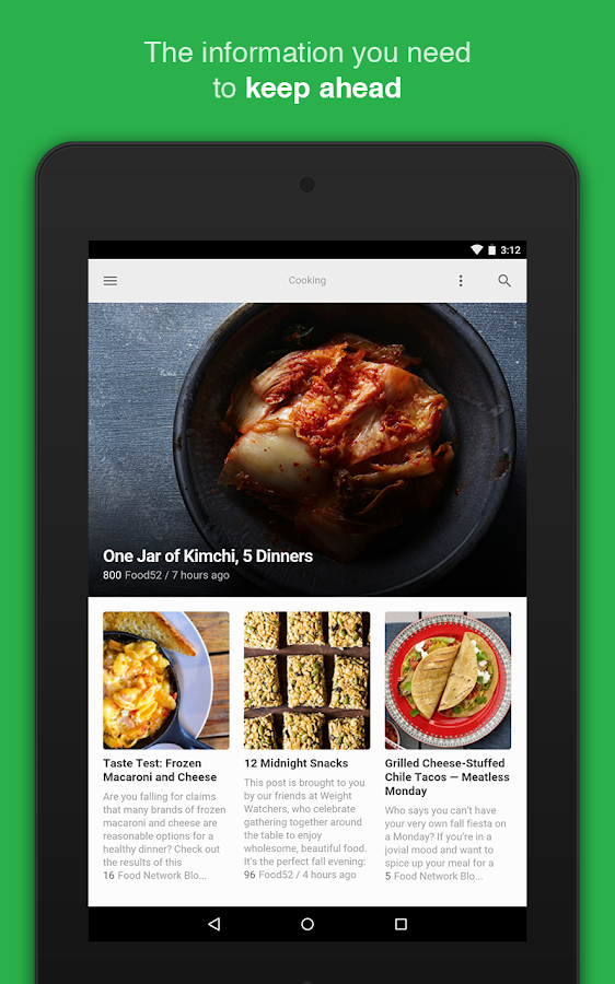 feedly: your work newsfeed- screenshot