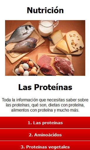 Nutrición Proteínas