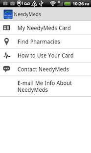 NeedyMeds Drug Discount Card - screenshot thumbnail