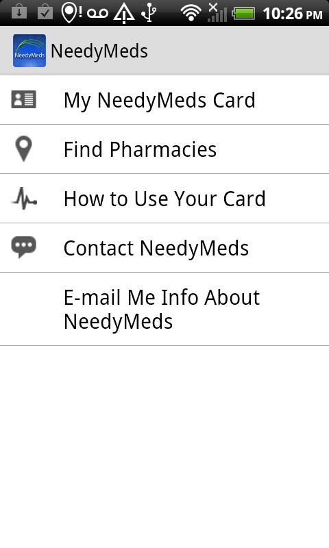 NeedyMeds Drug Discount Card - screenshot