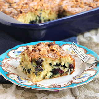 Blueberry Coconut Yogurt Coffee Cake.