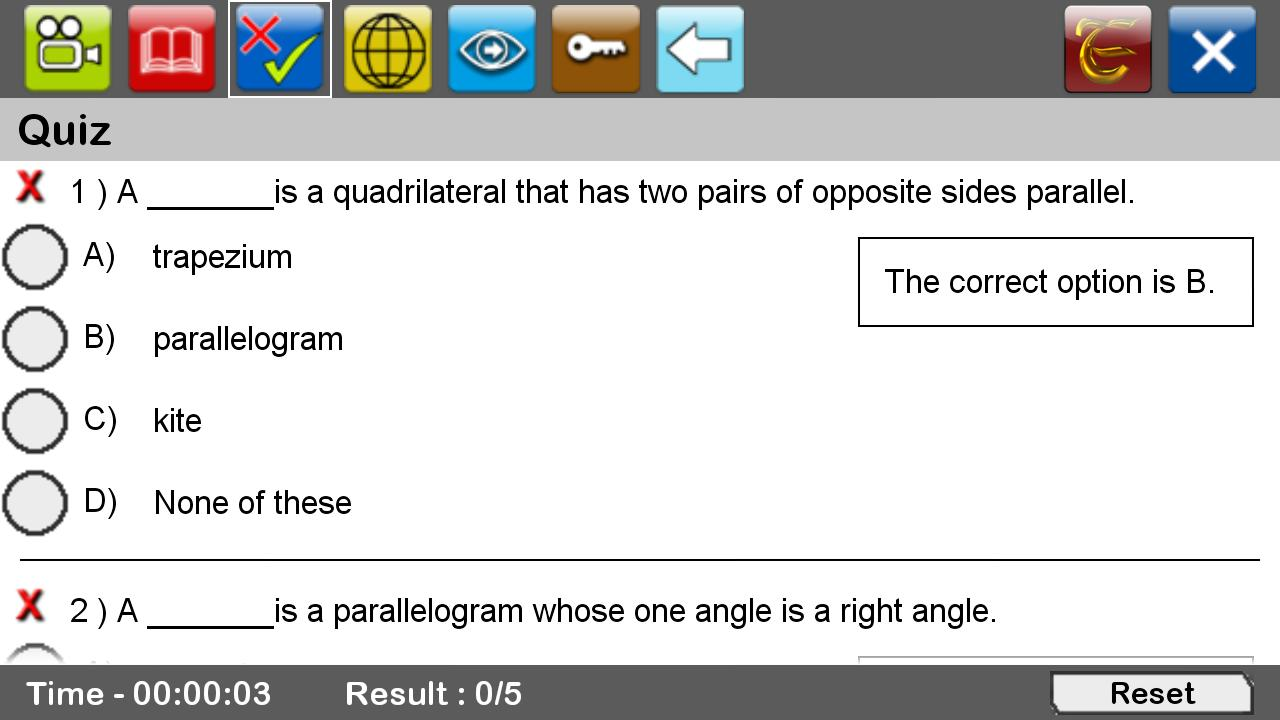 worksheet Different Types Of Quadrilaterals types of quadrilaterals android apps on google play screenshot