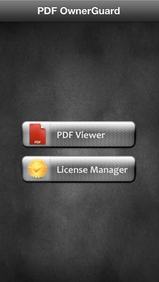 PDF OwnerGuard License Manager- screenshot