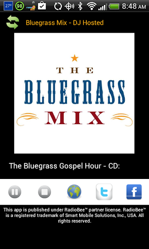 BluegrassMix Player