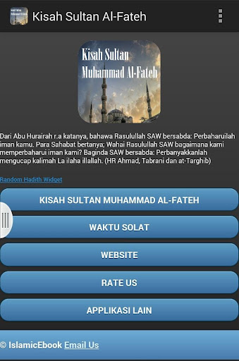 Kisah Sultan Muhammad Al-Fateh