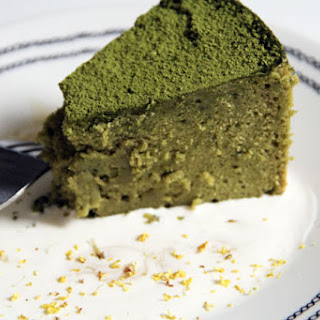 Japanese Green Tea Cheesecake.