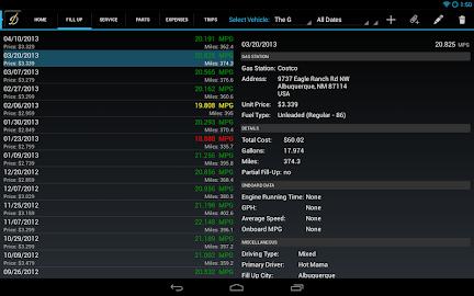 DriverDiary - Gas Mileage Screenshot 11