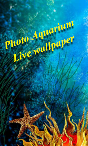Photo Aquarium Live Wallpaper