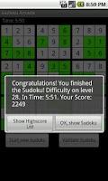 Screenshot of Sudoku Arcade