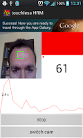Screenshot of Touchless Heart Rate Monitor
