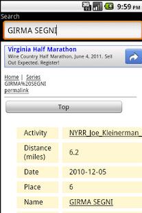 Running Results Search NYC!- screenshot thumbnail