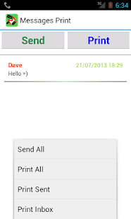 Messages Print - SMS Print txt - screenshot thumbnail