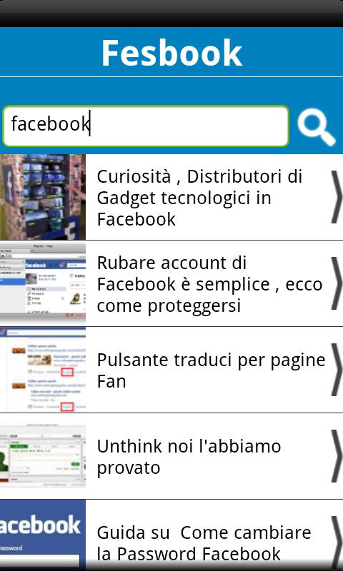 Fesbook Blog - screenshot