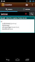 Screenshot of German English Dictionary