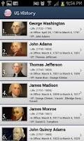 Screenshot of United States History