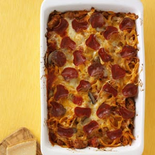Pepperoni Pizza Casserole.