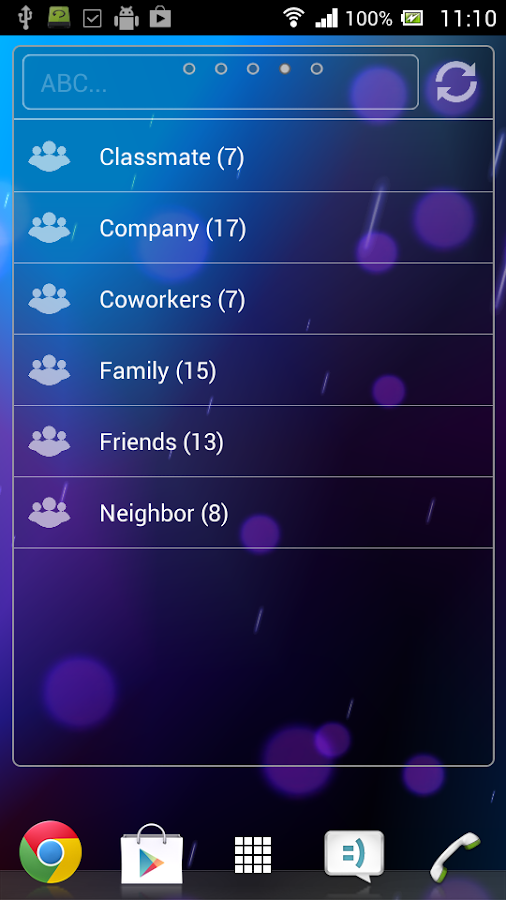PhoneBook Widget Pack - screenshot