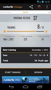 Runtastic Push-Ups Workout - screenshot thumbnail