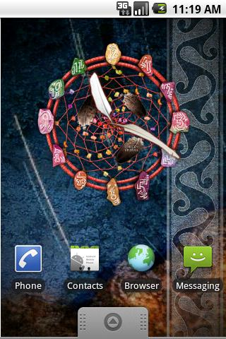 Dream Catcher Clock - screenshot