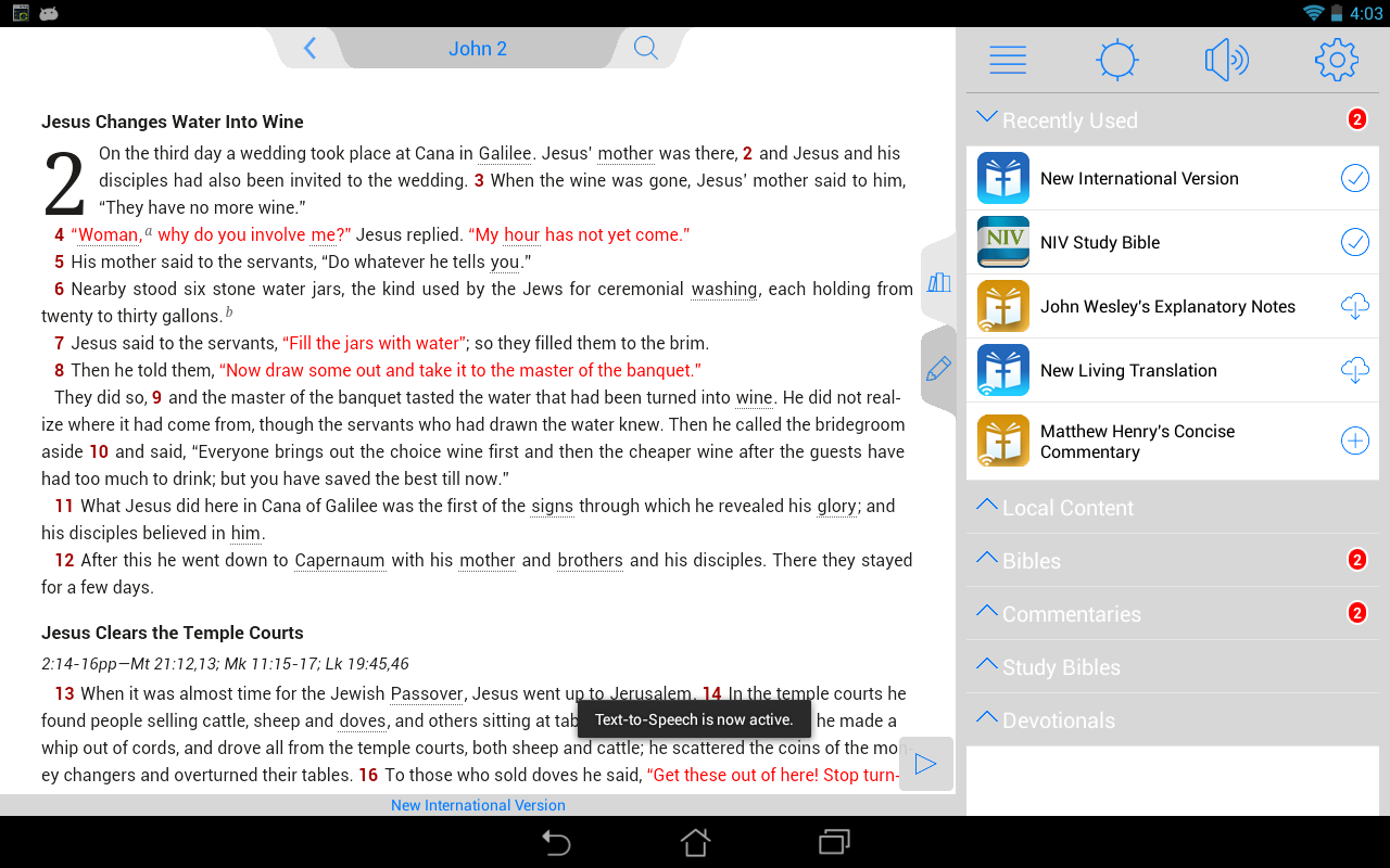 NLT Bible - screenshot
