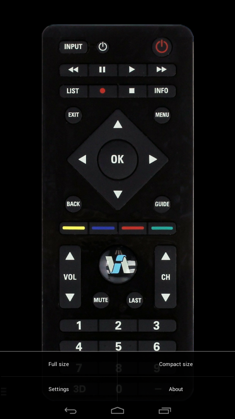 VizRemote (Remote control for Vizio TV)- screenshot