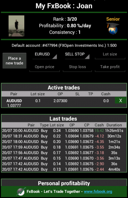 FxBook Let's Trade Together- screenshot