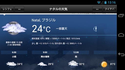 ワールドカップ天気
