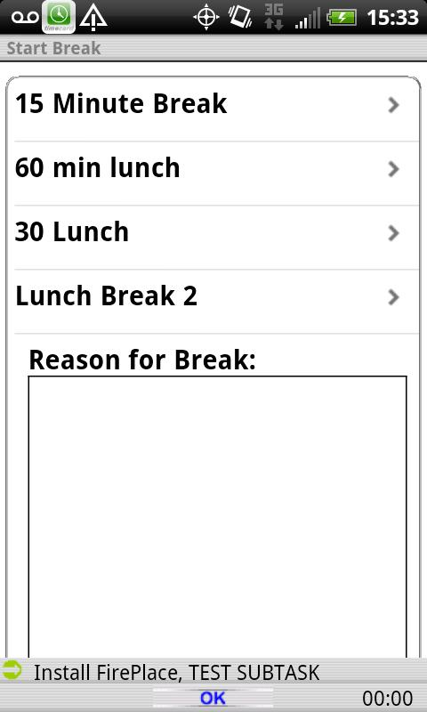 Timecard GPS LITE- screenshot