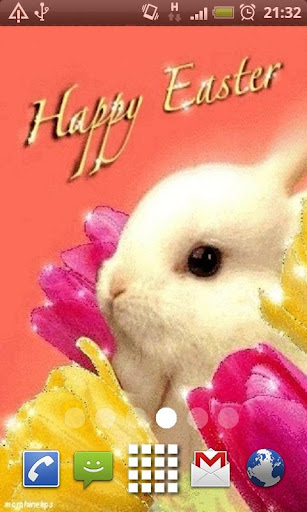 Happy Easter White Bunny LWP