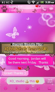 Pink Butterfly Theme 4GOLOCKER- screenshot thumbnail