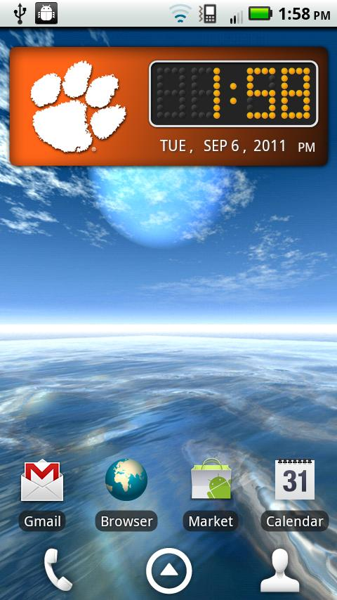 Clemson Tigers Clock Widget - screenshot