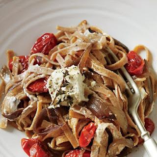 Spelt Ribbon Pasta with Marinated Feta