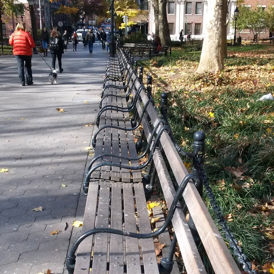 Washington Square Park, Autumn 2013 by Angela Theresa Egic - City,  Street & Park  City Parks ( dog walking, benches, fall, nyc, washington square park )