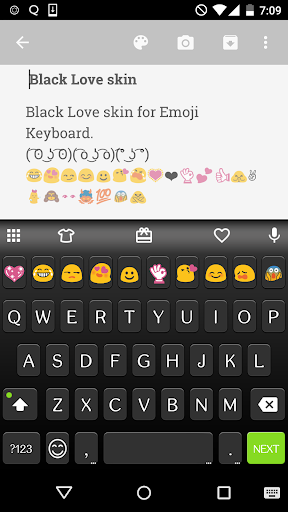 Black Love Emoji Keyboard