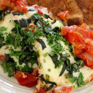 Dairy Free Tomato Basil Skillet Eggs