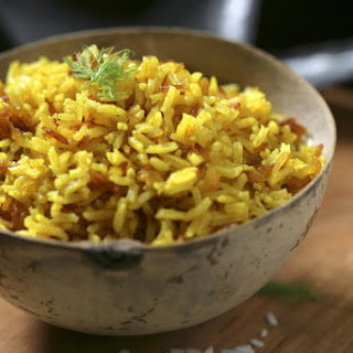 Stuck-Pot Rice With Yogurt and Spices